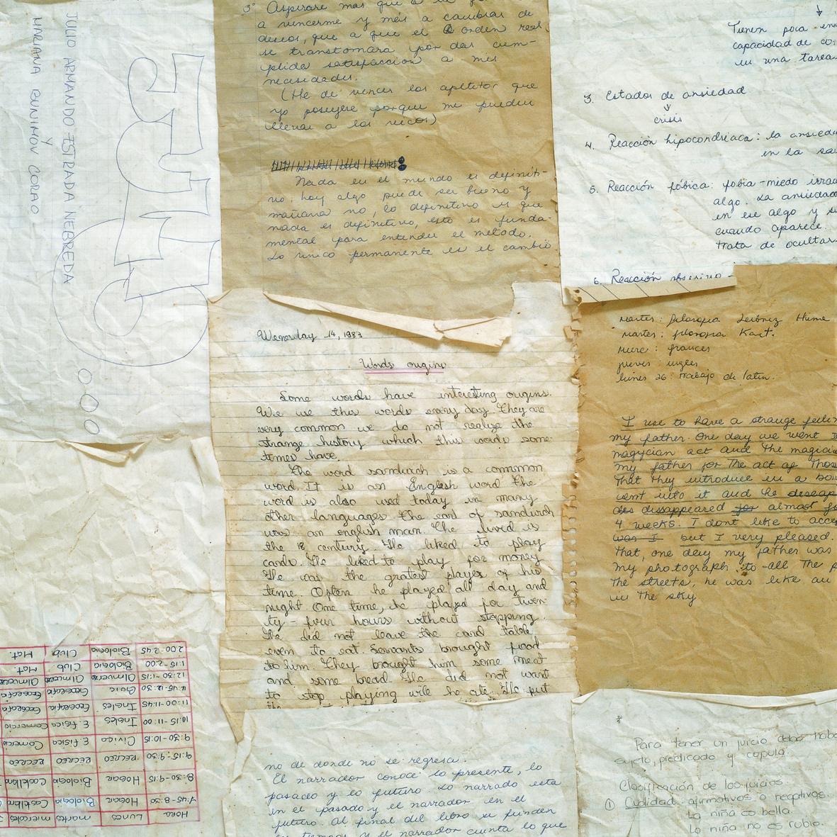 Colchón Cuadernos del Colegio | © Mariana Bunimov